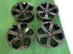 4 Chevrolet Silverado 1500 Oem Factory 22 Wheels Rims Gloss Black 6x5 5 Nice