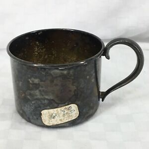 Vintage Silver Plate Smaller Baby Cup Marked