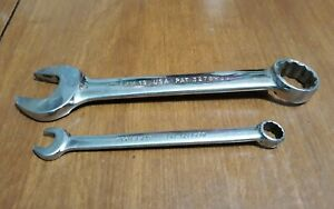2 Snap On Metric 9mm 19 Mm Combination Wrenches Short Handle 12 Pt U S A