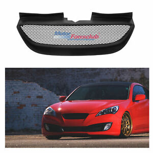 For Hyundai Genesis Coupe 2009 2012 Front Upper Grill Grille Mesh Matte Black