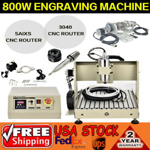 5axis 3040 Cnc Router Engraving Spindle Motor Woodworking control Box 0 8kw Vfd