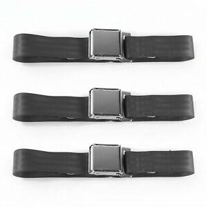 Amc Amx 1967 1974 Airplane 2pt Charcoal Lap Bucket Seatbelt Kit 2 Belts
