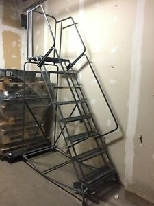 Ballymore Industrial 8 Step Rolling Warehouse Safety Ladder