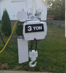 Coffing 3 Ton Electric Chain Hoist With Motorized Trolley