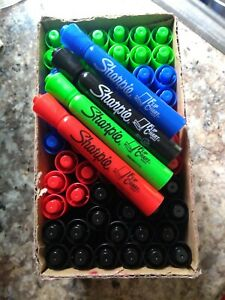 Sharpie Flip Chart Markers lot Of 65 Blue Red Black Green Permanent Markers