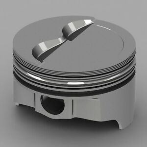 Icon Forged Piston Set Fits Chevy 377 Rod 6 000 Flat Top 4 8cc 2v