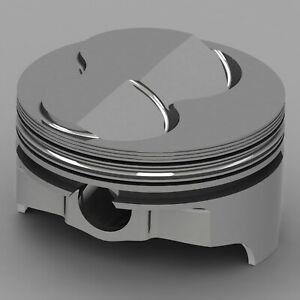 Icon Forged Piston Set Fits Chevy 377 Rod 6 000 Solid Dome 6 3cc 2v
