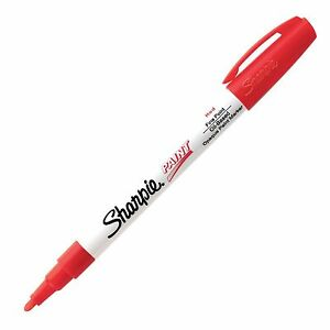Sharpie Paint Oil Base Red Fine shp 35535 12 pk