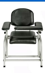 Brand New In Box Adirmed Black Padded Blood Drawing Chair D15
