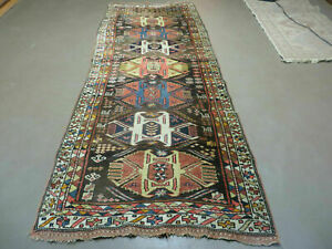 3 7 X 9 Antique Hand Made Persian Kurd Bidjar Bijar Wool Rug Animal Subjects