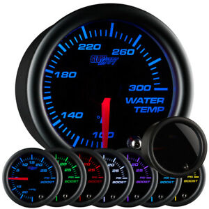 Used Glowshift Tinted 7 Color Water Temperature Gauge W Electronic Sending Unit