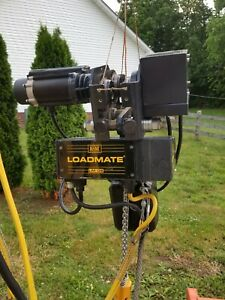 R m Loadmate 1 Ton Electric Hoist With Motorized Trolley 25 Ft Lift