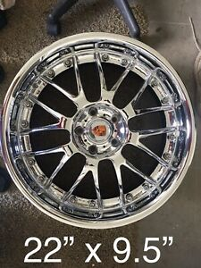 4 Used Radenergie Forged Chrome 1 Piece 22 X 9 5 Wheels Made In German
