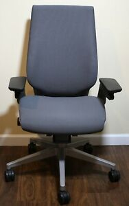 Steelcase Gesture Office Chair Grey Fabric With Platinum Base