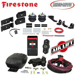 Firestone Ride Rite Air Bags Airlift Air Compressor For 17 19 Ford F250 F350 4wd