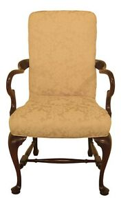 47310ec Hickory Chair Co Queen Anne Mahogany Armchair