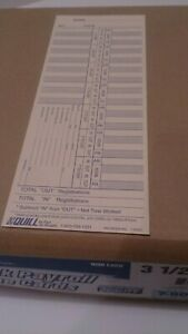 Quill Brand Payroll And Job Cards Time Clocks 1week Payroll Time Cards 1000count