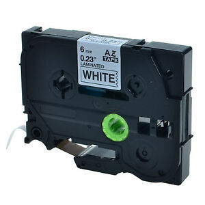 20pk Tz Tze 211 Black On White Label Tape For Brother P touch Pt 520 530 1 4