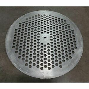 Used 24 Diameter Stainless Steel Perforated Plate
