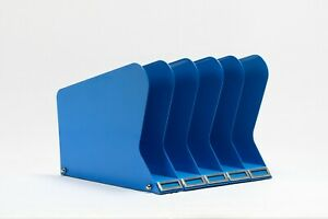 Atomic Desktop Memo File Holder Refinished In Blue Free Shipping