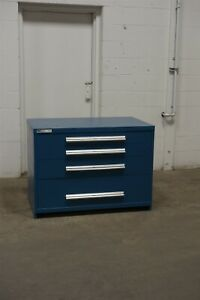 Used Vidmar 4 Drawer Cabinet Industrial Tool Storage 45 Wide 33 Tall 1699