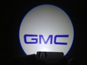 2x Wireless Car Door Led Welcome Projector Logo Ghost Shadow Light For Gmc Blue