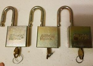 American Lock Series 5200 Padlock 3 Keyed Differently