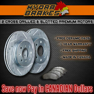 Fits 2003 2004 Ford Expedition 4wd Drill Slot Brake Rotors Ceramic Slv F