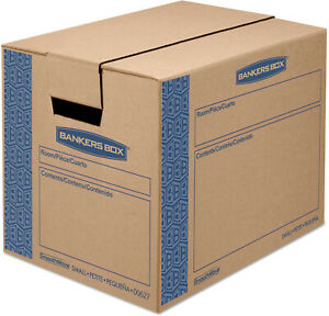Bankers Small Moving Boxes Mailing Packing Storage Cardboard File Safe Box 10 Pk