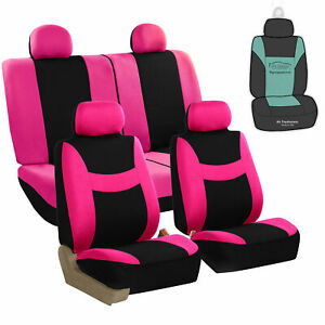 Universal Seat Covers For Car Suv Van W Steering Cover Belt Pads Gift Pink