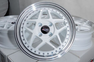 15 Wheels Toyota Corolla Miata Honda Civic Accord Cooper Scion Xa Xb White Rims