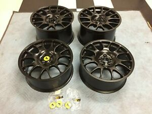 Black 18 Factory Ferrari Bbs Challenge 360 Race Wheels Rims Oem Spider Modena