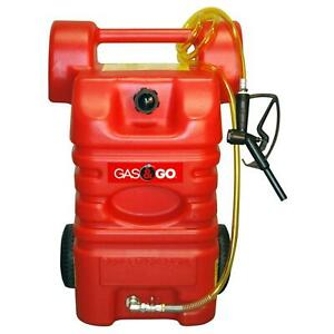15 Gal Portable Gas Fuel Cart Gasoline Tank Station Storage Caddy Polyethylene