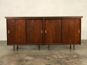 Mid Century Modern Credenza Cabinet With Sliding Doors Great Tv Stand