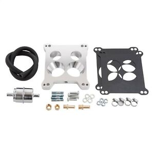Edelbrock 2697 Quadrajet Adapter And Fuel Line Kit
