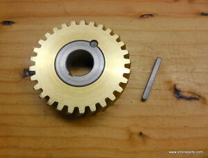 Hobart A120 a200 00 124751 0003 60 Hz Bronze Worm Wheel Gear Bushing Key