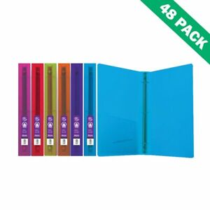 3 ring Binder File Glitter Poly School Binder 1 Inch With Pocket case Of 48