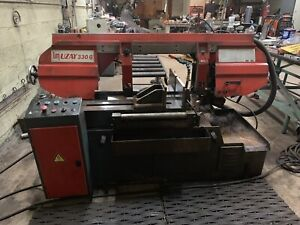 Semi Automatic Mitre Band Saw 13 X 30 With Rollers Coolant All Hydraulic Nice