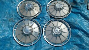 1961 Chevy Corvair 13 Wheel Covers Hubcaps Set Of 4