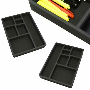 2 Desk Drawer Organizers Insert Black Home Or Office 7 Slot 15 9 X 11 9 New