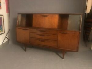 Mid Century Modern Danish Walnut Console Furniture Cabinet Buffet Server Sidebo