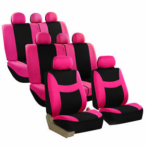 Car Seat Covers For Auto Suv Van Truck 3 Row Pink