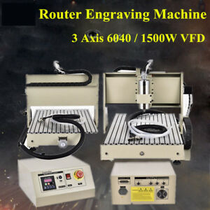 3 Axis Cnc 6040t Router Engraving Drilling Machine Metal Wood Engraver 1 5kw Vfd