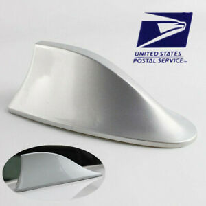 Silver Shark Fin Car Exterior Fm Am Antenna Aerial Radio Replacement Signal