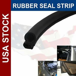 25feet Trim Lok Lock Seal Side Door Rubber Edge W bulb Camper Rv Trailer Black