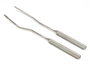 Equine Dental Offset Elevator 2 pc Set Stainless Steel 13 Long