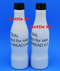 *Rare! 2 Prototype/Test Not For Sale Thread H4,4 & H5 Aluminum Coca Cola Bottle