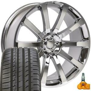 20x9 Rims Tires Tpms Fit Dodge 300 Srt Chrysler Chrome Wheels Ironman Tires 2253