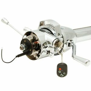 33 Inch Chrome Gm Style Tilt Steering Column Automatic Shift With Key Hot Rod