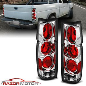 For 1986 1997 Nissan Hardbody Pickup D21 Jdm Chrome Rear Brake Tail Lights Pair